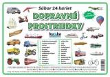 Popis produktu - Súbor 24 kariet - dopravné prostriedky