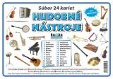 Popis produktu - Súbor 24 kariet - hudobné nástroje