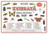 Popis produktu - Súbor 24 kariet - zvieratá (hmyz)