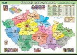 Popis produktu - Česká republika - administratívna mapa
