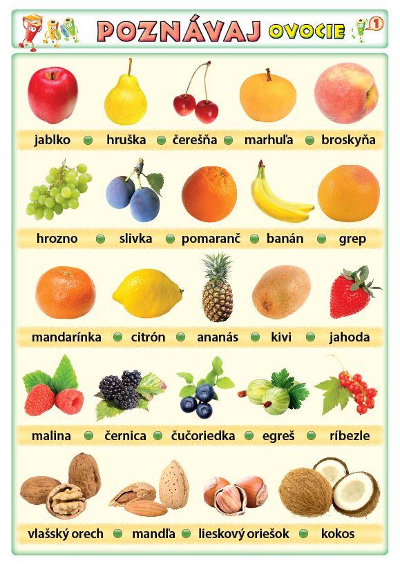 Poznávaj 1 - ovocie, zelenina