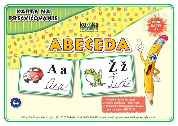 Karty na precvičovanie - abeceda nakladateľstvo Kupka
