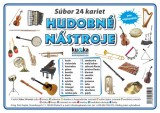 Súbor 24 kariet - hudobné nástroje