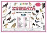 Súbor 24 kariet - zvieratá (vtáky)