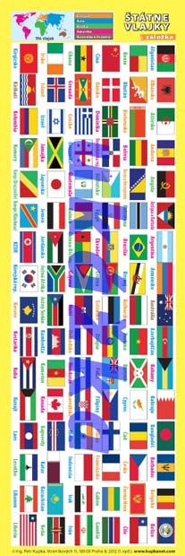 Záložka - Štátne vlajky