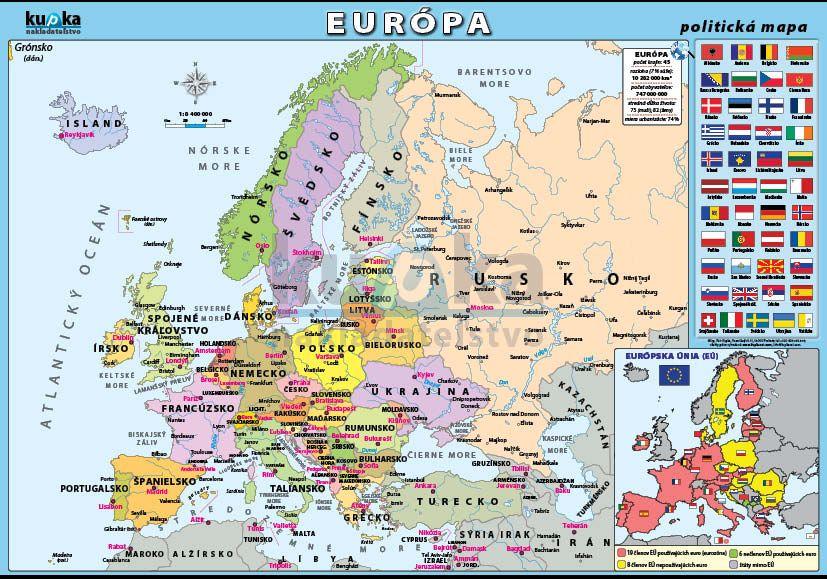 Európa - politická mapa