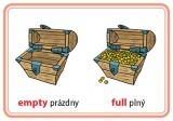 Karty na precvičovanie - protiklady v angličtine