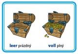 Karty na precvičovanie - protiklady v nemčine