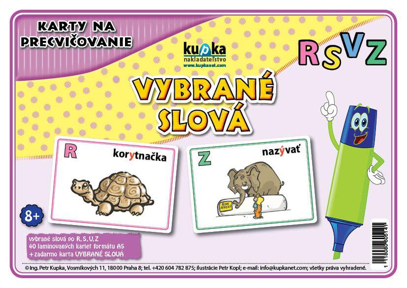 Karty na precvičovanie - vybrané slová RSVZ