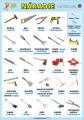 Náradie (das Werkzeug) v nemčine | XL (100x70 cm), XXL (140x100 cm), A3 (42x30 cm), bez líšt, A4 (30x21 cm), bez líšt