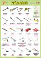Náradie (tools) v angličtine | XL (100x70 cm), XXL (140x100 cm), A3 (42x30 cm), bez líšt, A4 (30x21 cm), bez líšt