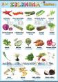 Zelenina 2 v nemčine | XL (100x70 cm), XXL (140x100 cm), A3 (42x30 cm), bez líšt, A4 (30x21 cm), bez líšt